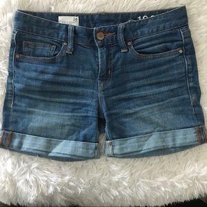 Gap 1969 Denim Cuff Shorts